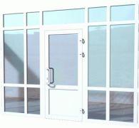Двери из пластикового и алюминиевого профиля 3
